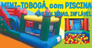 Aluguel de Mini Tobogã com Piscina de Bolinhas Inflável